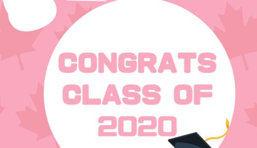 Congratulations Class of 2020! Study Kittyから卒業生へお祝いメッセージ