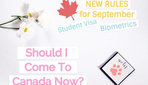 【新学期前に要確認】カナダ学生ビザ・入国制限・学校の授業について